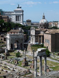 Foro romano del Th imagenes de archivo