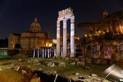Foro Romano di notte - Roma Royaltyfri Bild