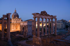 Foro Romano at Dusk Stock Photos
