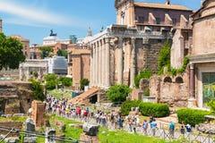 Foro romano en Roma Imágenes de archivo libres de regalías