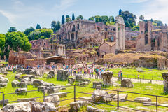 Foro romano en Roma Fotografía de archivo libre de regalías