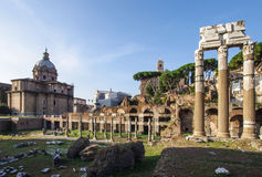 Foro Romano Roman Forum ruins in the center of Rome Italy Royalty Free Stock Photos