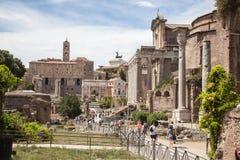 Foro Romano in Rome, Italy Stock Photo