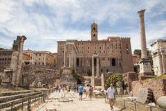 Foro Romano in Rome, Italy Royalty Free Stock Photo