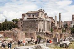 Foro Romano in Rome, Italy Royalty Free Stock Image