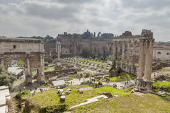 Foro Romano ruins Stock Photos