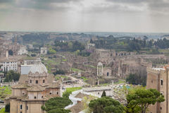 Foro Romano ruins Royalty Free Stock Photos
