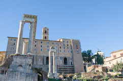 Foro Romano and Tabularium Stock Photography
