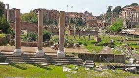 Foro romano Vídeo de Roman Forum en Roma, Italia Latín: Foro Romanum, italiano: Romano de Foro metrajes