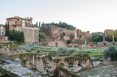 Foro Romano. View of the Foro Romano and Palatine in Rome, Italy Stock Image