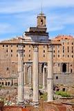 Foro romano, vista del templo de Romulus del Palatine hola Foto de archivo