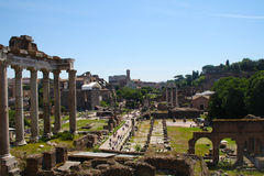 Foro Romanum Imagen de archivo libre de regalías
