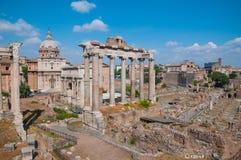 Foro Romanum, Italia Foto de archivo libre de regalías