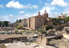 Foro of Rome, Italy Royalty Free Stock Photos