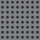 Foro rotondo di gray d'acciaio del modello Fotografia Stock