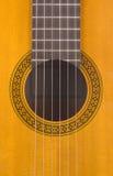Foro sano della chitarra classica Immagini Stock