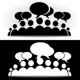 Foro social blanco y negro de la comunidad Imagen de archivo libre de regalías