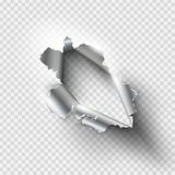 Foro stracciato lacerato in metallo strappato illustrazione vettoriale