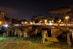 Foro Traiano a Roma, Italia Immagine Stock