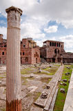 Foro Traiano and roman Column at Rome - Italy Royalty Free Stock Image
