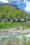 Foroglio, vallée de Bavona, canton de Tessin, Suisse Images stock