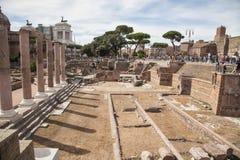 Fororomano in Rome, Italië Stock Fotografie