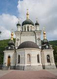 Foros church in Crimea. Domes Foros church in Crimea royalty free stock photo
