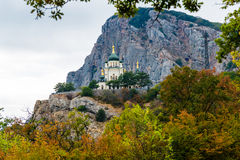 Foros Church in Crimea. Foros Church in Crimean mountains is at a height 412 metres Royalty Free Stock Image
