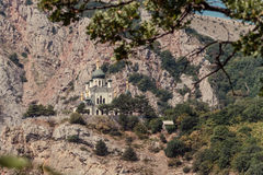 Foros Church on the rock. Bottom view Royalty Free Stock Photo