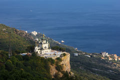 Foros, Crimea. Orthodox church in Foros, Crimea royalty free stock photo