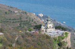 Church. Foros, Crimea - April 09: The Church of Christ Resurrection on April 09, 2016 in Foros, Crimea royalty free stock photo