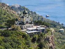 Foros temple. Is one of the most beautiful and most famous temples in Crimea royalty free stock photos