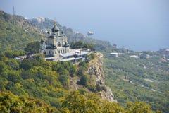 Forossky church. Church on a rock near pass in Crimea Royalty Free Stock Photos