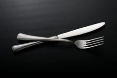 Forquilha da faca e do _ Fotografia de Stock