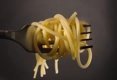 Forquilha do espaguete fotografia de stock