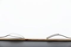 Forquilha e colher na madeira Imagem de Stock Royalty Free