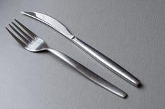 Forquilha e faca Fotografia de Stock