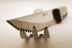 Forquilha e faca Imagens de Stock