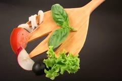 Forquilha - salada fotografia de stock royalty free