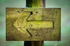 Forquilha verde no foothpath imagens de stock