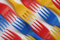 Forquilhas coloridos Imagens de Stock