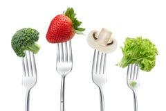 Forquilhas com vegetais Fotografia de Stock Royalty Free