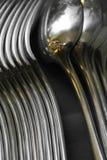 Forquilhas das colheres de prata Imagem de Stock