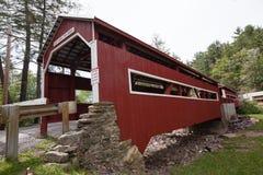 Forquilhas Pensilvânia das pontes cobertas do gêmeo de Paden Imagem de Stock Royalty Free