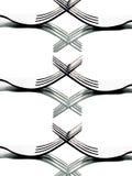 Forquilhas que criam testes padrões em preto e branco Imagens de Stock Royalty Free