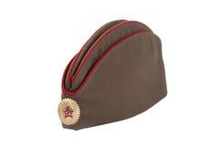 Forraje-casquillo soviético de los oficiales de ejército Foto de archivo libre de regalías