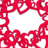 Forre shadovs da gota da bandeira do coração os vith Illyustration do vetor Imagem de Stock