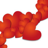 Forre shadovs da gota da bandeira do coração os vith Illyustration do vetor Imagens de Stock