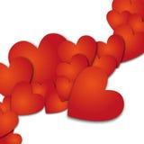 Forre shadovs da gota da bandeira do coração os vith Illyustration do vetor Fotos de Stock