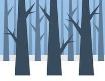 Forrest冬天 免版税图库摄影